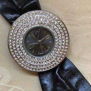 Geneva Faux Leather Watch